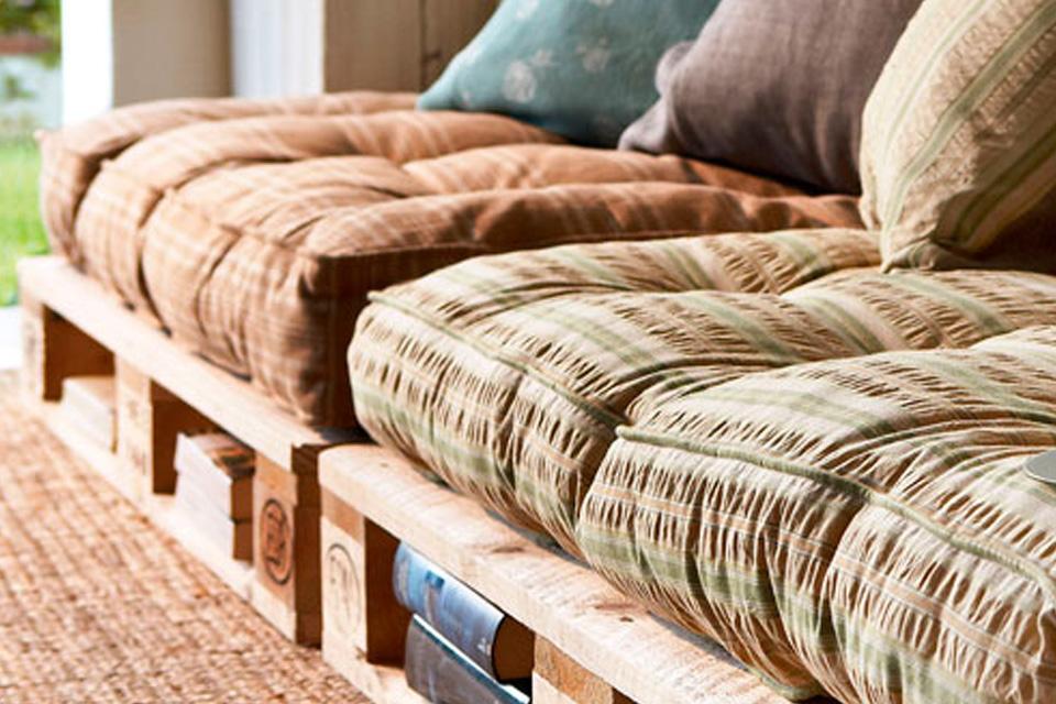 Cojines para sofás hechos con palets