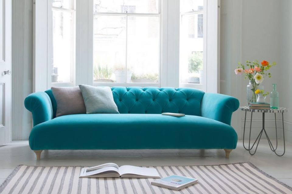 Cojines para sofa turquesa